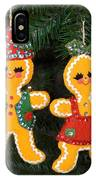 Gingerbread Couple IPhone Case