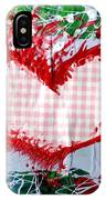 Gingham Crazy Heart IPhone Case