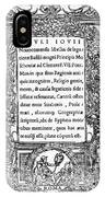 Giovio: Title Page, 1525 IPhone Case