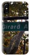 Girard Avenue In Philadelphia IPhone Case