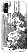 Girl Sewing, 1873 IPhone Case