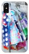 Girl's Dresses At Street Fair IPhone Case