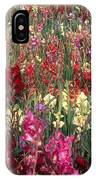 Gladioli Garden In Early Fall IPhone Case