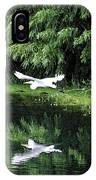 Gliding Through The Swamp IPhone Case