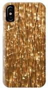 Glistening Gold Prairie Grass Abstract IPhone Case