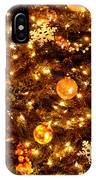 Glowing Golden Christmas Tree IPhone Case