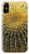 Gold Barrel Cactus   No 1 IPhone Case
