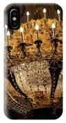 Golden Chandelier IPhone Case