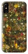 Golden Christmas Tree IPhone Case