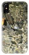 Golden Clear Ripples IPhone Case