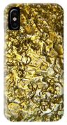 Golden Ice Crystals IPhone Case