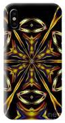 Golden Kaleidoscope IPhone Case