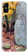 Golden Oak Through Boulders At Elephant Rocks State Park IPhone Case