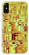 Golden Ripples Abstract IPhone Case
