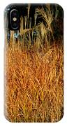 Golden Silver Grass IPhone Case