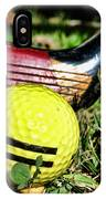 Golf - Tee Time With A 3 Iron IPhone Case