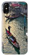 Gondolieri At Grand Canal. Venice. Italy IPhone Case