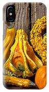 Gourds Against Wooden Wall IPhone Case