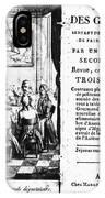 Gourmands Almanac, 1806 IPhone Case
