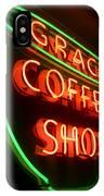 Grace Coffee Shop Neon IPhone Case