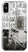 Graffiti And Bicycle IPhone Case