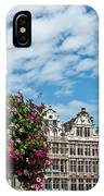 Grand Place Flowers IPhone Case