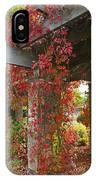 Grape Leaves On Columns IPhone Case