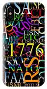 Graphic America 1 IPhone Case