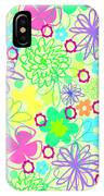 Graphic Flowers IPhone Case