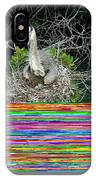 Great Blue Heron Ardea Herodias Nesting IPhone Case