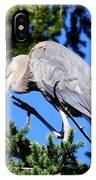 Great Blue Heron Concentration IPhone Case