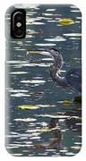 Great Blue Heron With Snack IPhone Case
