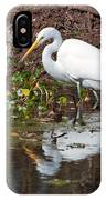 Great Egret Searching For Food In The Marsh IPhone Case
