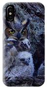 Great Horned Owl Twins IPhone Case