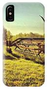Great Photo Of Some Old #farm Tools IPhone Case