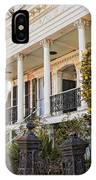 Greek Revival And The Tiny Pink Shoe - Garden District New Orleans IPhone Case