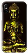 Green And Gold Buddha IPhone Case