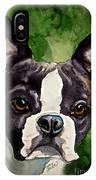 Green Black And White IPhone Case