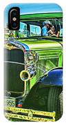 Green Ford Street Rod Hdr IPhone Case
