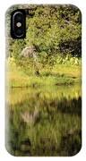 Green In Summit Lake IPhone Case