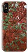 Green Leaves Against Red Leaves IPhone Case
