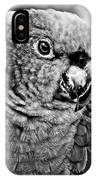 Green Parrot - Bw IPhone Case