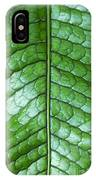 Green Scaly Leaf Pattern IPhone Case