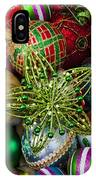 Green Star Christmas Ornament IPhone Case