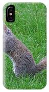 Grey Squirrel In The Rain IPhone Case