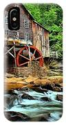 Grist Mill At Babcock IPhone Case