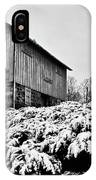 Grist Mill In Winter - Hdr IPhone Case