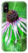 Gritty Coneflower IPhone Case