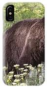 Grizzly Bear In Yellowstone Neg.28 IPhone Case