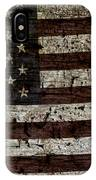Grungy Wooden Textured Usa Flag2 IPhone Case